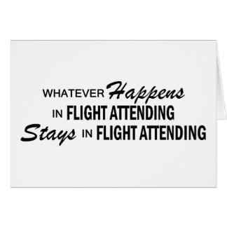 Whatever Happens - Flight Attending Card