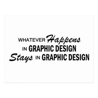 Whatever Happens - Graphic Design Postcard