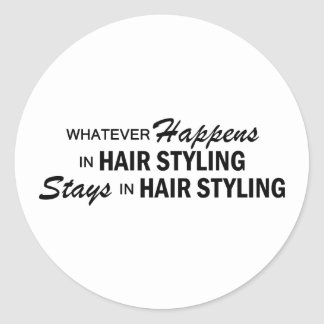 Whatever Happens - Hair Styling Classic Round Sticker