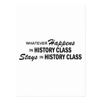 Whatever Happens - History Class Postcard