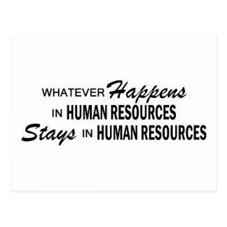 Whatever Happens - Human Resources Postcard
