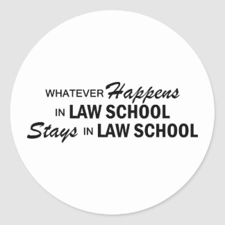 Whatever Happens - Law School Classic Round Sticker