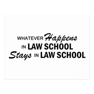 Whatever Happens - Law School Postcard