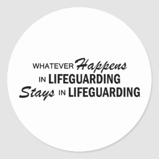 Whatever Happens - Lifeguarding Classic Round Sticker