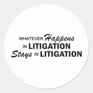 Whatever Happens - Litigation Classic Round Sticker