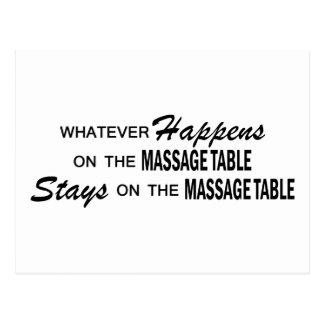 Whatever Happens - Massage Table Postcard