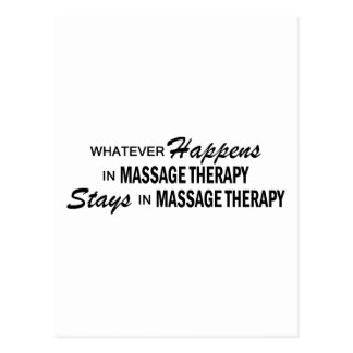 Whatever Happens - Massage Therapy Postcard