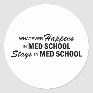 Whatever Happens - Med School Classic Round Sticker