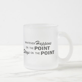 Whatever Happens - Point Frosted Glass Coffee Mug