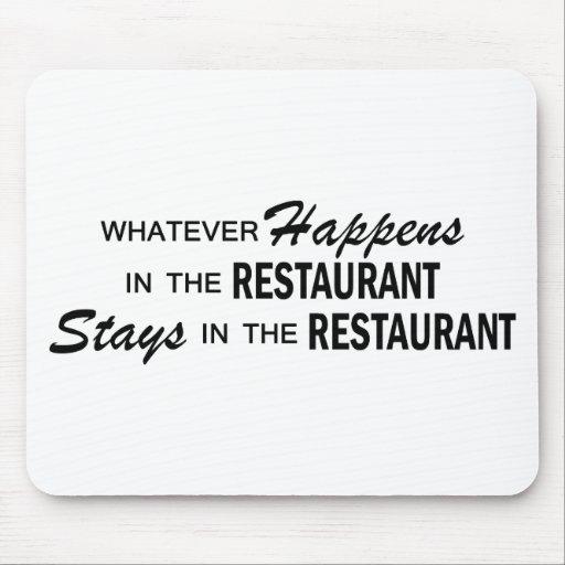 Whatever Happens - Restaurant Mouse Pad