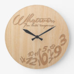 Whatever, I'm late anyway - Faux Engrave Wood Look Large Clock