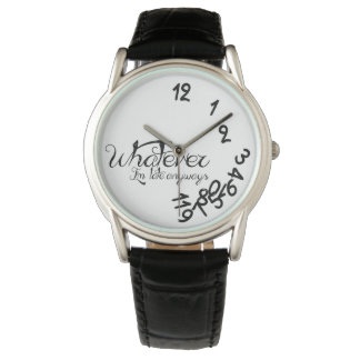 Whatever, I'm late anyways - Classy black & white Wrist Watches