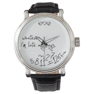 whatever, I'm late anyways - modern black & white Watches