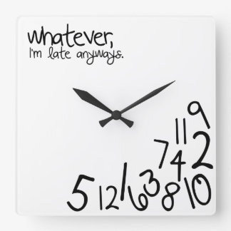 Always late gifts on zazzle - Coole wanduhren ...