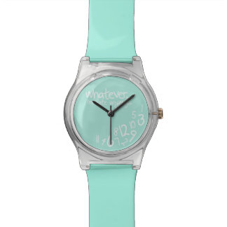 Whatever, I'm late anyways - Turquoise Wristwatch