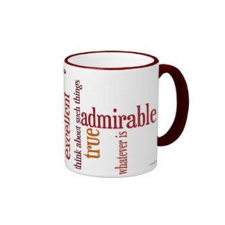 """""""Whatever Is"""" Mug: Philippians 4:8 Ringer Mug"""