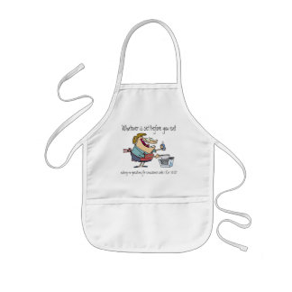 Whatever is set before you eat kids' apron