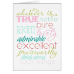 whatever is true notecard greeting cards
