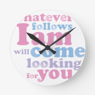 Whatever.ladies.pdf Round Clock