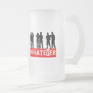 Whatever makes you happy 16 oz frosted glass beer mug