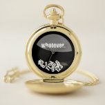 """Whatever Messy Numbers Pocket Watch<br><div class=""""desc"""">Whimsical watch face design</div>"""