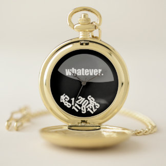 Whatever Messy Numbers Pocket Watch