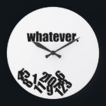 "Whatever Messy Numbers Wall Clock<br><div class=""desc"">Fun wall clock for those who just really don&#39;t care what time it is.</div>"