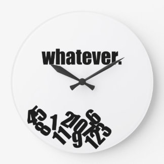 Whatever Messy Numbers Wall Clock
