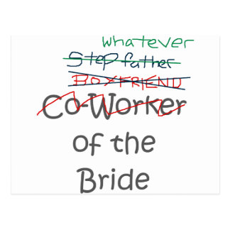 Whatever of the Bride Postcard