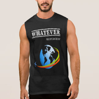 Whatever/planet + plane sleeveless shirt