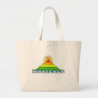 Whatever Pyramid Horizon Retro Large Tote Bag
