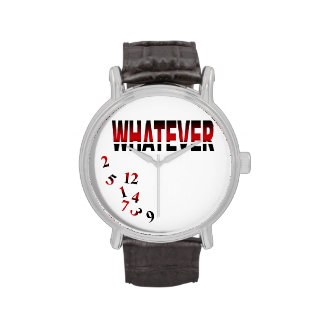 Whatever   red watches