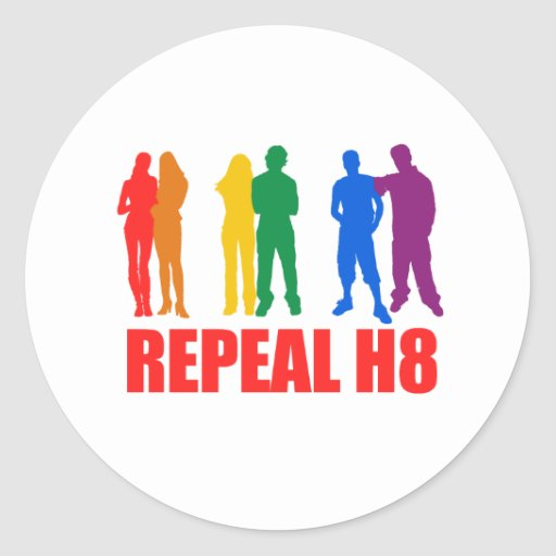 WHATEVER: REPEAL H8 ROUND STICKERS