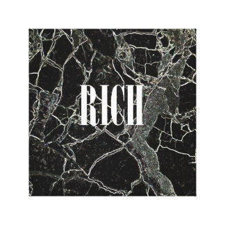 Whatever RICH - Black Canvas Print