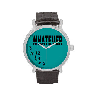 Whatever   teal black wristwatch
