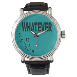 Whatever   teal black wristwatches