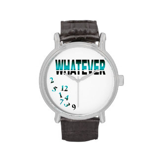 Whatever   teal wristwatches