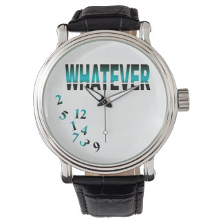 Whatever   teal wristwatch