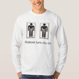 Whatever Turns You On Gay Male Light Switch T-Shirt