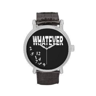 Whatever   white black wristwatches