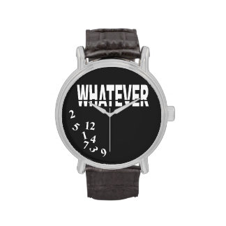 Whatever | white black wrist watch