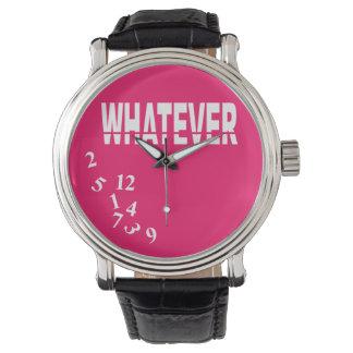 Whatever | white fuschia wrist watches