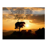 Whatever You Can Do Motivational Postcard