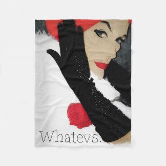 Whatevs, funny vintage fashion fleece blanket