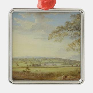 Whatman Turkey Mill in Kent, 1794 (gouache, bodyco Square Metal Christmas Ornament