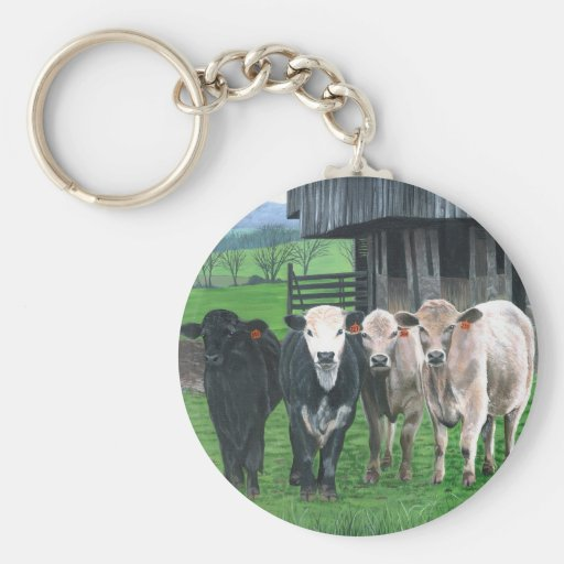 """""""What're You Looking At?"""" by Christopher Lyter Keychain"""
