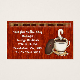 What's a coffee  without a donut! business card