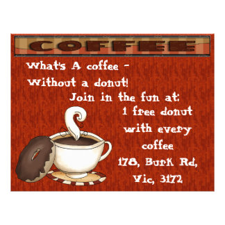 What's a coffee  without a donut! flyer
