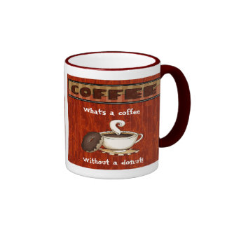 What's a coffee - Without a donut! Ringer Mug
