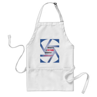 """What's a Picture Worth?"" Merchandise Adult Apron"